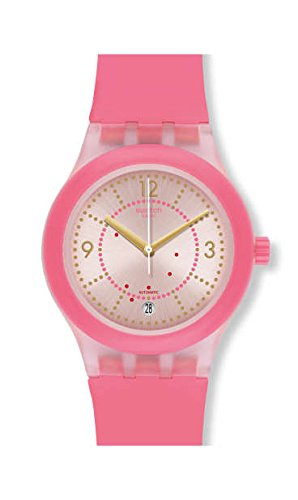 Swatch Sistem51 SUTP401 Matte Pink Silicone Automatic Fashion (Swatch Automatic Watch)