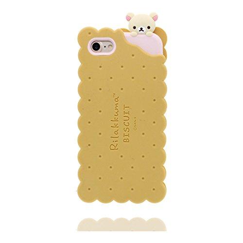 """Coque iPhone 6 (4.7""""), Étui pour iPhone 6s (4.7""""), [ TPU Material Flexible ] iPhone 6S case Dust Scratch Resistant, 3D Biscuit ours bear souple et ring Support de téléphone"""