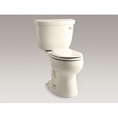 KOHLER Cimarron Comfort Height Two-Piece Round-Front 1.6 Gpf Toilet with Aquapiston Flush Technology and Right-Hand Trip Lever