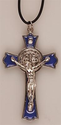 Ciondolo San 1227 6 Collana 7 nbsp;cm Con Nero Crocifisso Medaglione A Benedetto 7dx41f7