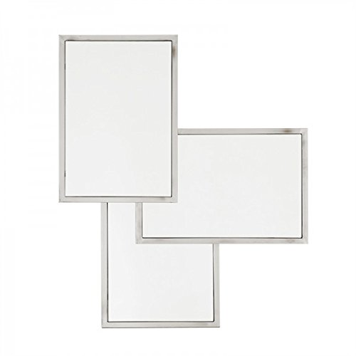 Casa Padrino Luxus Spiegel Neo Klassisch 80 x H 96 cm Edelstahl vernickelt - Wandspiegel - Luxus Hotel Möbel Collection