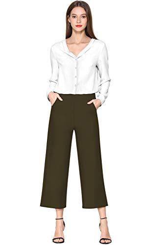 优雅知性的宽腿七分裤,超级显瘦