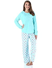 Women's Sleepwear Fleece Long Sleeve Pajamas PJ Set