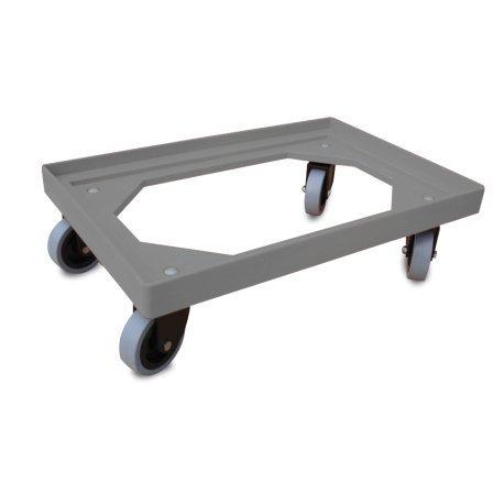 Fricosmos Plataforma rodante para cubetas 620x420x100 mm. para cubetas de 600x400 mm. Ruedas giratorias de Poliamida y Banda de Goma.