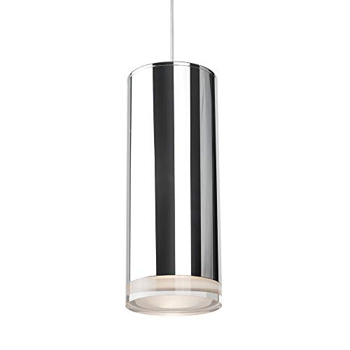 (1 Light Pendant in Chrome with Acrylic - Clear shade)