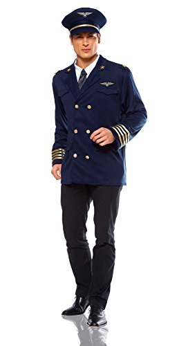 Costume Culture Men's Pilot Costume, Blue, Standard (Pilot Costume Men)