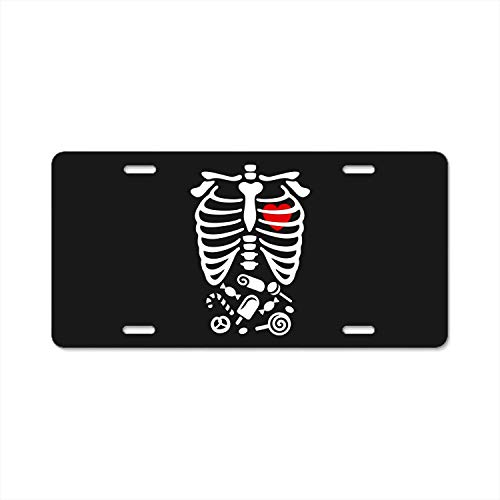 YEX Abstract Scary Halloween X-Ray Costume Candy License Plate Frame Car Licence Plate Covers Auto Tag Holder 6