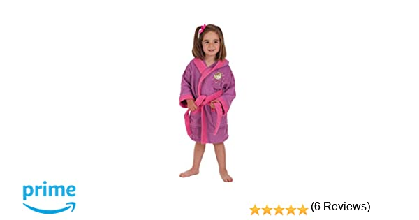 Secaneta - Albornoces de Niña Bordados. Albornoces Infantiles Algodón y Colores. Mod. Mandy (Niña 2 a 4 años): Amazon.es: Hogar