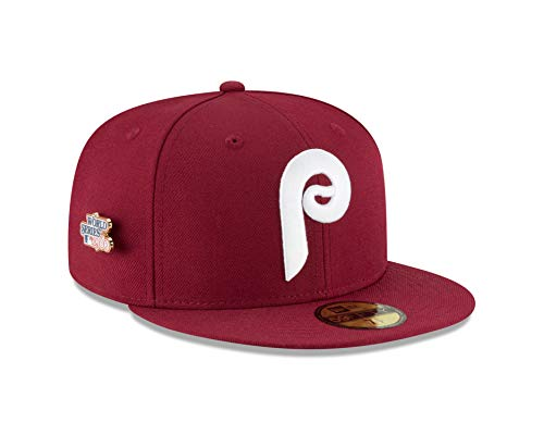 New Era Philadelphia Phillies World Series Pin 1980 Champions Fitted 59Fifty MLB Hat