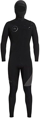 (Quiksilver 5/4/3mm Syncro Series Chest Zip GBS Hooded Men's Full Wetsuits - Black/Jet Black/Medium)