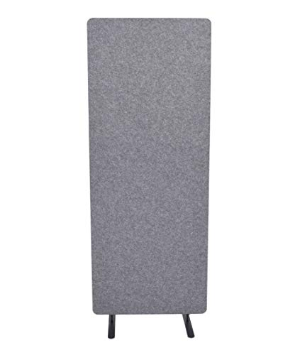 "ReFocus Raw Freestanding Acoustic Room Divider - Reduce Noise and Visual Distractions with This Lightweight Room Separator (Castle Gray, 24"" X 62"")"