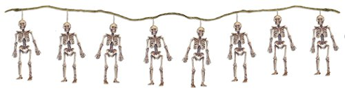 72 Inch String of Skeletons Garland Hanging Halloween Decoration (Skeletons Halloween)