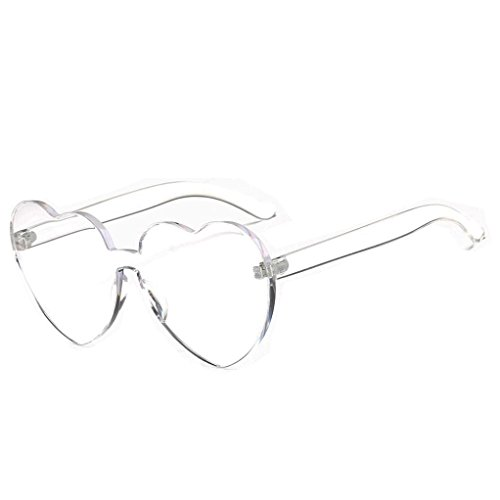 TOOPOOT Clearance Deals Glasses, Lady Summer Heart-shaped Eye Shades Candy Colored Sunglasses - Multi Color Sunglasses