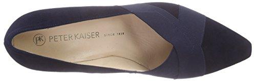 Peter Kaiser 104 Toe Pumps Blue Closed Notte Women Suede 68529 q6wdaqr