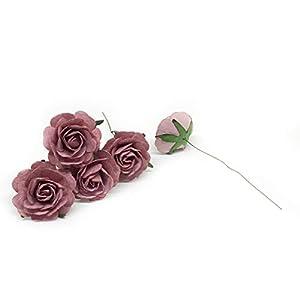 "1.5"" Mauve Paper Flowers, Mulberry Paper Flowers, Mulberry Paper Roses, DIY Wedding, Flower Backdrop, Blush Wedding, DIY Wedding Favors, 12 Pieces 2"