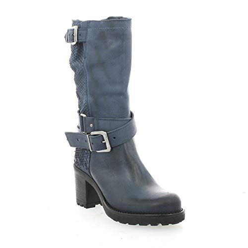 Boots pelle blu di Mid pitone Pao in pqAZFC5xw