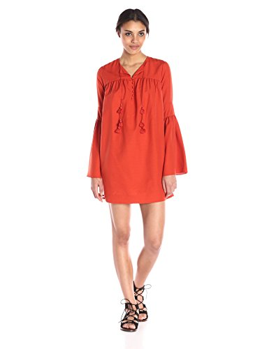 Boho-Chic Vacation & Fall Looks - Standard & Plus Size Styless - Rachel Zoe Women's Helen Dress, Spice
