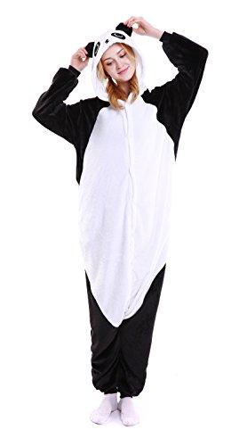 Panda Suit (Dingwangyang Uinisex Adult Pajamas Onesie Kigurumi Cosplay Costumes Animal Jumpsuit Kong-Fu Panda-L)