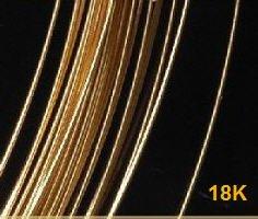 18k Gold Wire (18kt Gold Jewelry Wire Hard 30 Gauge 18k Bulk (Qty=18