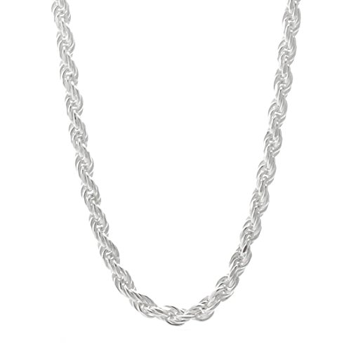 Watch Store USA Sterling Silver 2.0mm Rope Chain (16, 18, 20, 22, 24, 26, 28, 30 or 36 inch) (20 ()