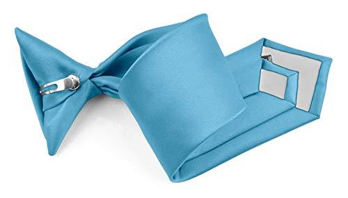 - Moda Di Raza - Boy's NeckTie Solid Clip on Polyester Tie - Boys' Kids' Children's Solid Color Boys Formal Wear Pre-Tied Polyester Clip Necktie - Turqu