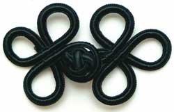 (Bulk Buy: Wrights Rayon Braid Frog Closure Black 3