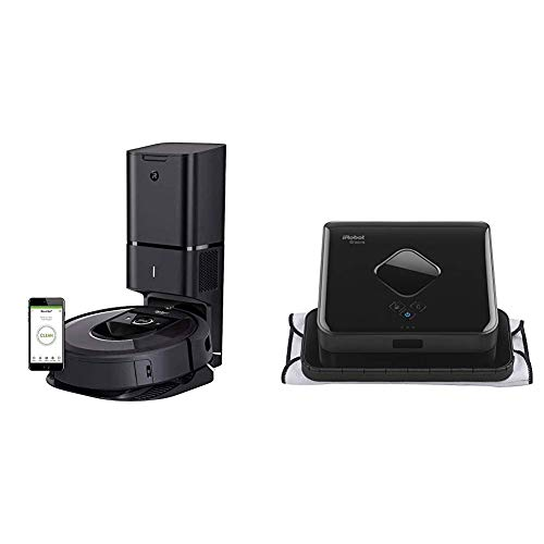 iRobot Roomba i7+ (7550) Robot Vacuum with Automatic Dirt Disposal- Wi-Fi Connected, Smart Mapping &  Braava 380t Advanced Robot  Mop- Wet Mopping and Dry Sweeping cleaning modes, large spaces