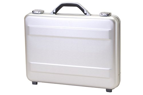 - T.Z. Case International Slimline Molded Aluminum Attache, Silver, 18 X 13 X 3