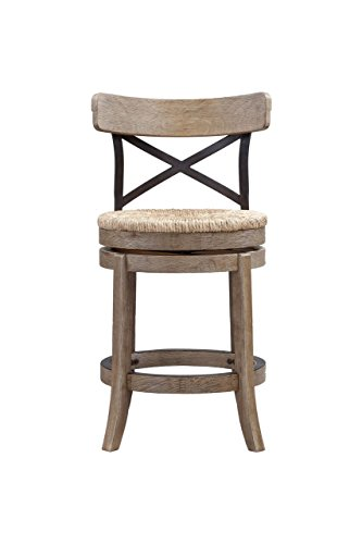 Boraam 76924 Myrtle Counter Height Stool, 24-Inch, Wire Brush