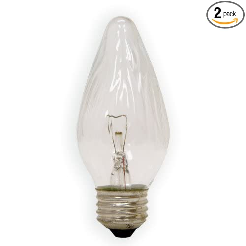 2-Pack General Electric GE Lighting 72810 25-Watt Decorative F15 Incandescent Light Bulb Crystal Clear
