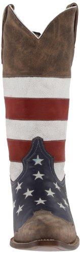 Roper Menns Amerikanske Flagg Western Boot Rød / Hvit / Blå