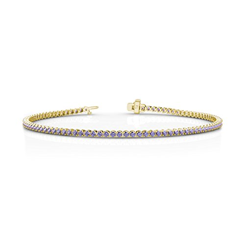 Tanzanite Tennis Bracelet 1.62 ct tw in 14K Yellow Gold 14k Yellow Gold Tanzanite Bracelet