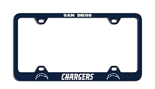 Nfl San Diego Chargers Laser License Plate Frame One Size