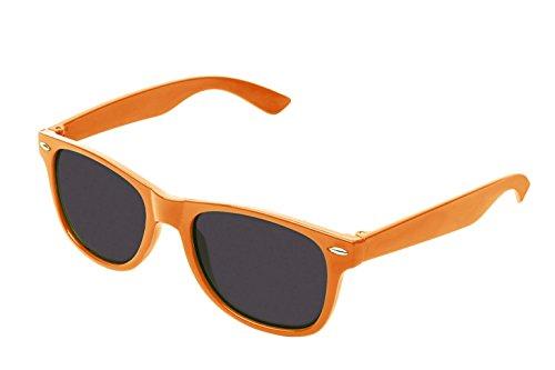 retroUV® - Flat Revo Couleur Objectif Grande Corne Cerclées Style Lunettes de Soleil Comprend Pouch - UV400 Wayfarer / Jaune / Teinte