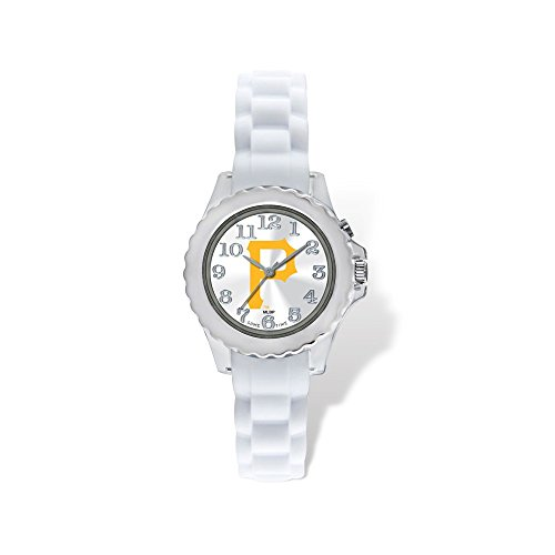(Gifts Licensed Gifts Youth MLB Pittsburgh Pirates Flash White Strap Watch )