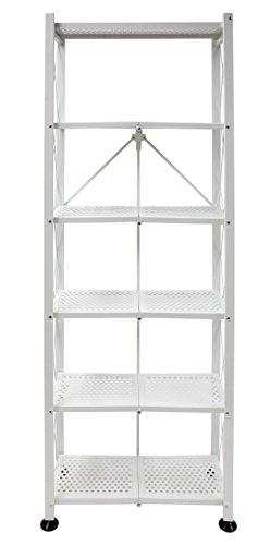 Origami  6 Tier Book Shelf,  White