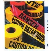 CH Hanson - 14100 3 in.X 200 ft.Caution Tape, Durable Polyethylene Plastic
