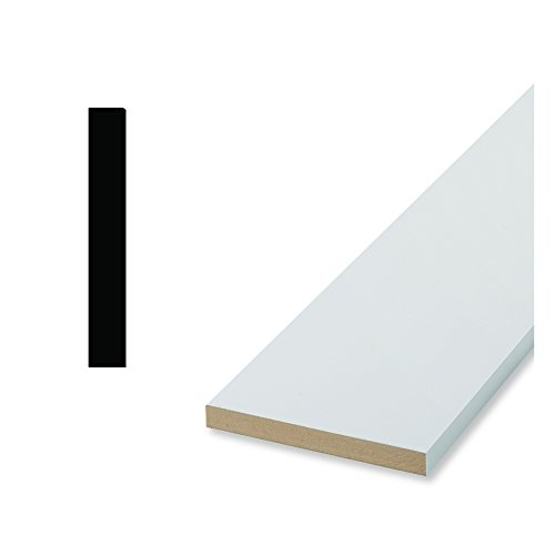 Craftsman 65E1 11/16 in. x 6-1/2 in. x 96 in. Primed MDF Base Moulding (Finish Molding Base Wood)