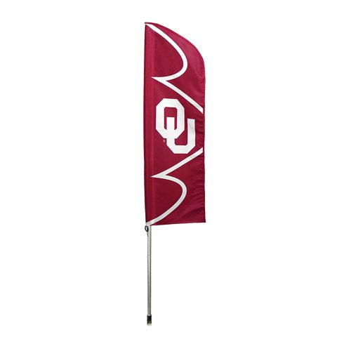 Party Animal Oklahoma Sooners NCAA Swooper Flag and Pole - Ncaa Tailgate Flag