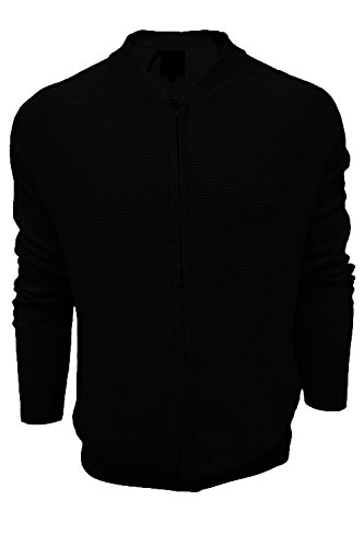 Cárdigan para Hombre Threadbare Ebony Black suéter ATWxqTdSwZ