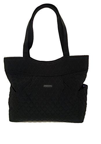 Vera Bradley Pleated Tote Zip Top Bag Stamped Micro (Quilted Zip Top Tote)