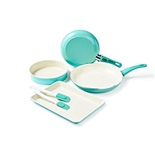 GreenLife Cookware and Bakeware Set, Cookware, Turquoise