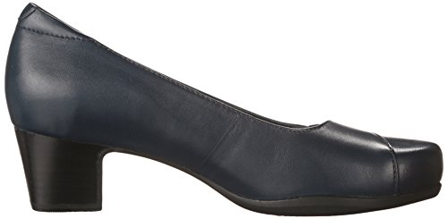 Clarks Mujeres Rosalyn Belle Navy Leather