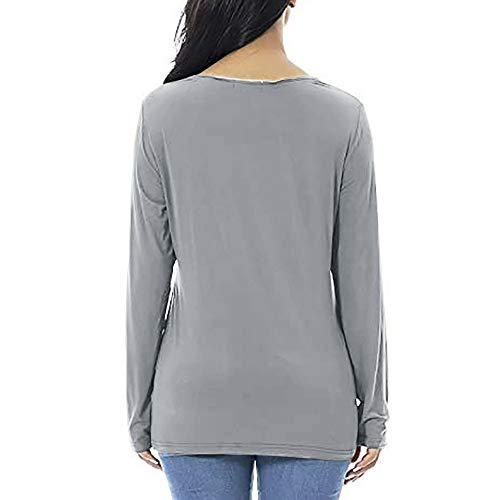 Cubre La Blanco Para Larga Gris Amamantar Negro Maternidad Rojo Cómoda Camisetas Sudadera De Camiseta Mujeres Manga Azul Ohq O1qI5wv