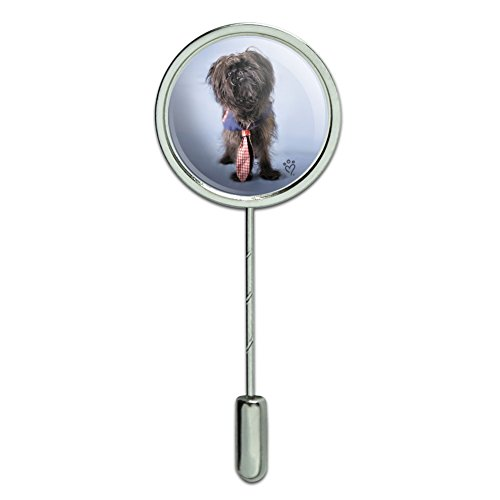 GRAPHICS & MORE Affenpinscher Puppy Dog with Tie Stick Pin Stickpin Hat Brooch