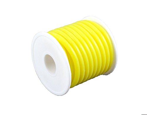 TopHobbyUS 1 Roll (16 ft) Yellow Silicone RC Nitro Fuel Line Tubing D5.2xø2.5 ()