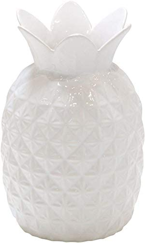 Home Essentials White Pineapple Vase, 8-inch Height