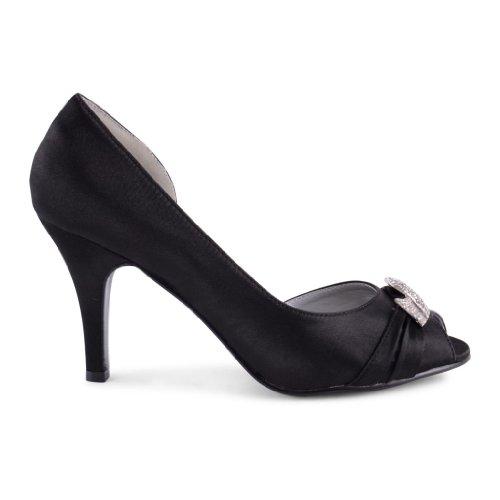 Footwear Sensation - punta abierta de sintético mujer negro - negro