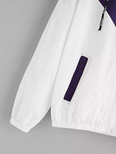 Hauts Chic Printemps Blouson Tops Sweatshirt lgant Outwear Pullover a Femme Hiver Minetom Veste Violet Windbreaker Sport Casual Capuche clair Automne Sweat Manteaux 2018 Fermeture Mode Capuche Ux1OYwq