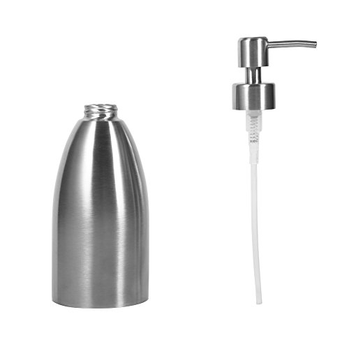 500ml Kitchen Sink Faucet Bathroom Shampoo Box Soap Container Stainless Steel Soap Dispenser by Isguin